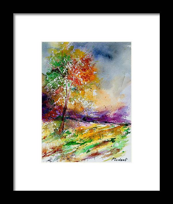 Spring Framed Print featuring the painting Watercolor 100507 by Pol Ledent