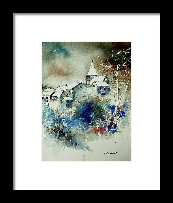 Winter Framed Print featuring the painting Watercolor 140408 by Pol Ledent