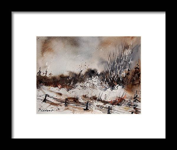 Winter Framed Print featuring the painting Watercolor 150708 by Pol Ledent