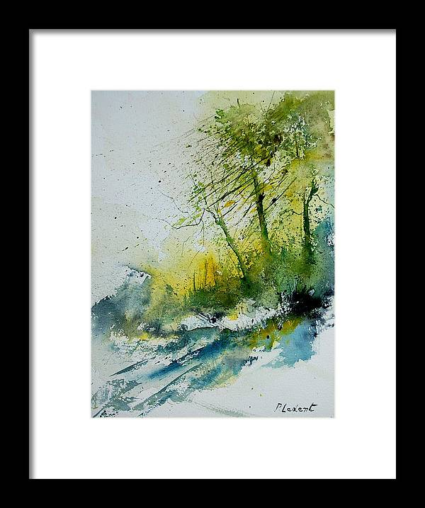 River Framed Print featuring the painting Watercolor 181207 by Pol Ledent
