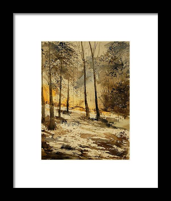 Tree Framed Print featuring the painting Watercolor 191106 by Pol Ledent