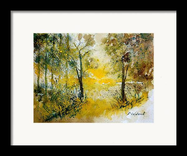 River Framed Print featuring the painting Watercolor 210108 by Pol Ledent