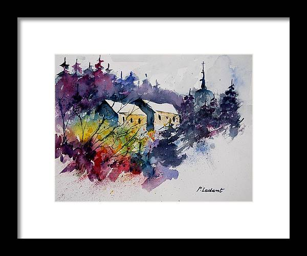 River Framed Print featuring the painting Watercolor 231207 by Pol Ledent