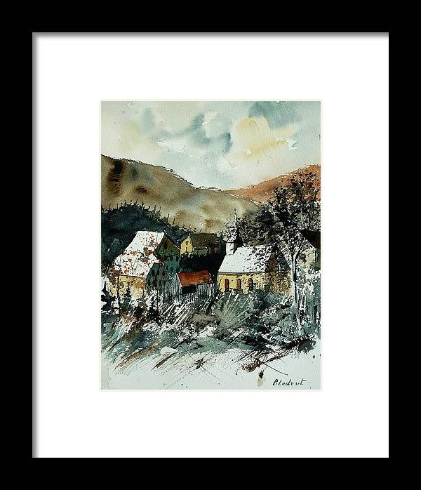 Winter Framed Print featuring the painting Watercolor 260107 by Pol Ledent