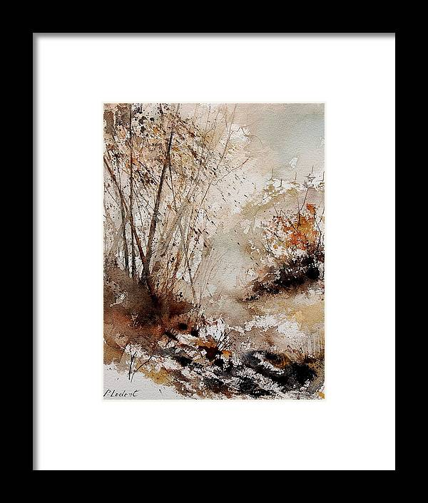 Tree Framed Print featuring the painting Watercolor 290808 by Pol Ledent