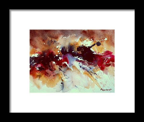 Abstract Framed Print featuring the painting Watercolor 301107 by Pol Ledent