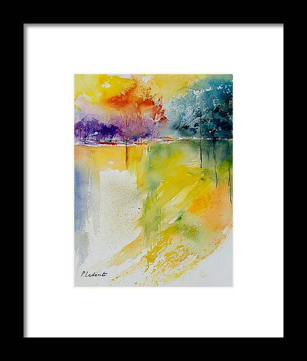 Pond Framed Print featuring the painting Watercolor 800142 by Pol Ledent