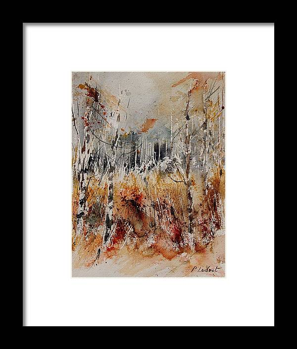 Tree Framed Print featuring the painting Watercolor 904012 by Pol Ledent