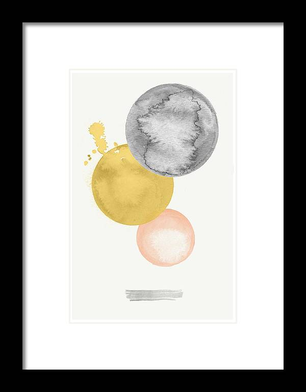Watercolor Framed Print featuring the digital art Watercolor Abstract #4 by Nordic Print Studio