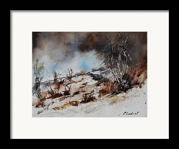 River Framed Print featuring the painting Watercolor Jjook by Pol Ledent