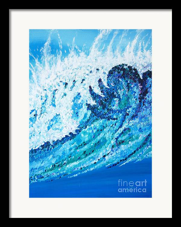 Ocean Framed Print featuring the painting Watercolor by JoAnn DePolo