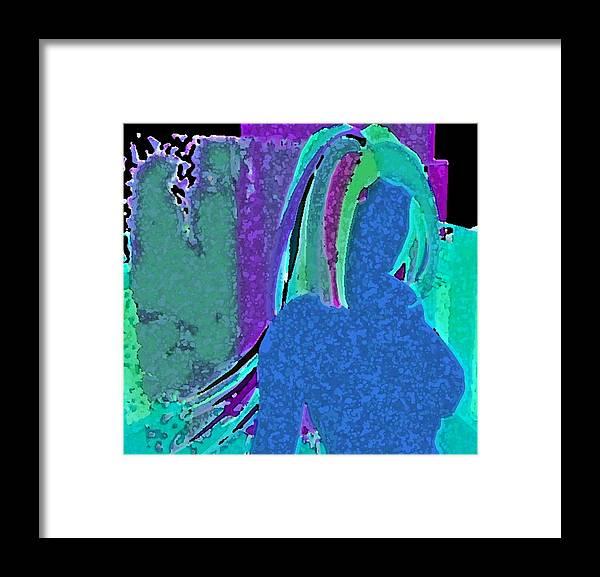 Digital Art Framed Print featuring the digital art Watercolor Raven by Margie Byrne