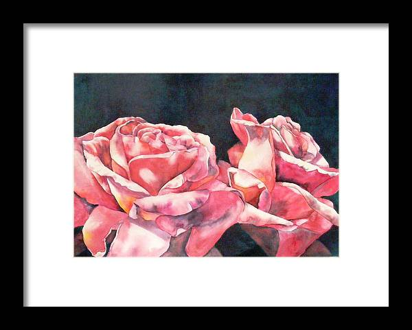 Roses Framed Print featuring the painting Watercolor Roses by Diane Ziemski