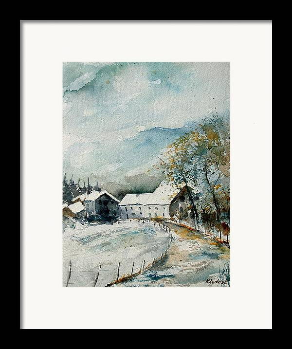 River Framed Print featuring the painting Watercolor Sechery 1207 by Pol Ledent