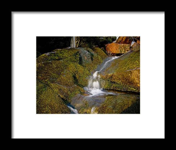 Waterfall Framed Print featuring the photograph Waterfall At Dawn by Jim DeLillo