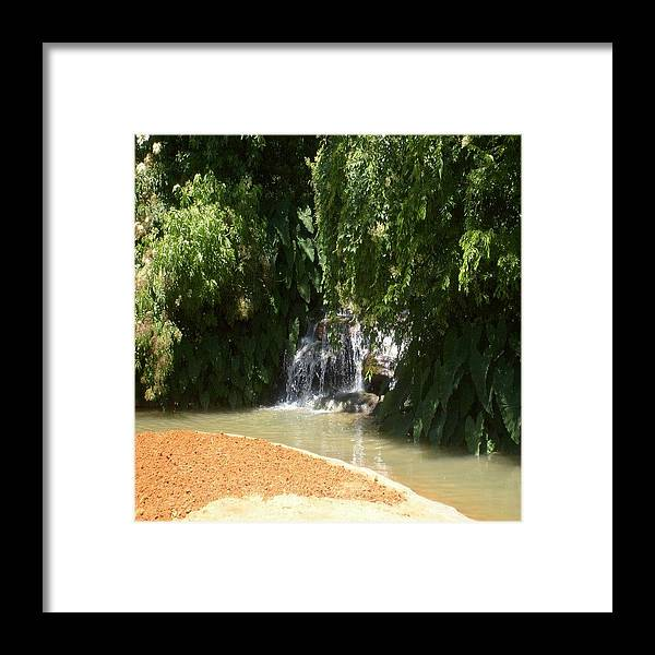 Water Framed Print featuring the photograph Waterfall by Carla Fionnagain