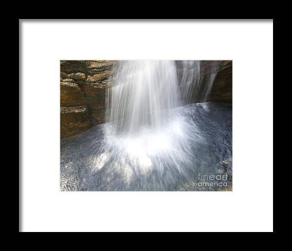 Waterfall Framed Print featuring the photograph Waterfall In Nh Splash 3 by Michael Mooney