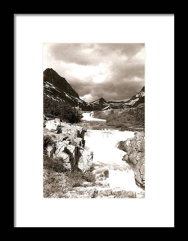 Photograph Framed Print featuring the photograph Waterfall In The Highlands by Patricia Bigelow