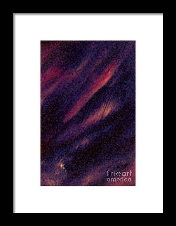 Abstract Framed Print featuring the painting Waterfall by John OShea