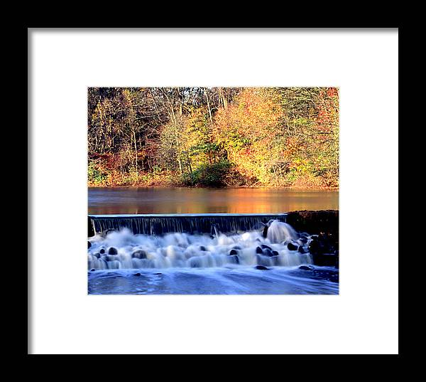 Water Framed Print featuring the photograph Water.fall by Ken Norcross