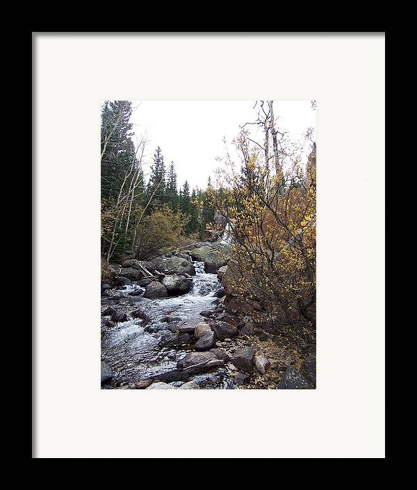Landscape Framed Print featuring the photograph Waterfall by Lisa Gabrius