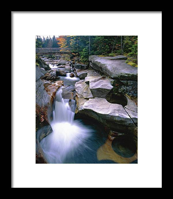 Ammonoosuc River Framed Print featuring the photograph Waterfall On The Ammonoosuc River by George Oze