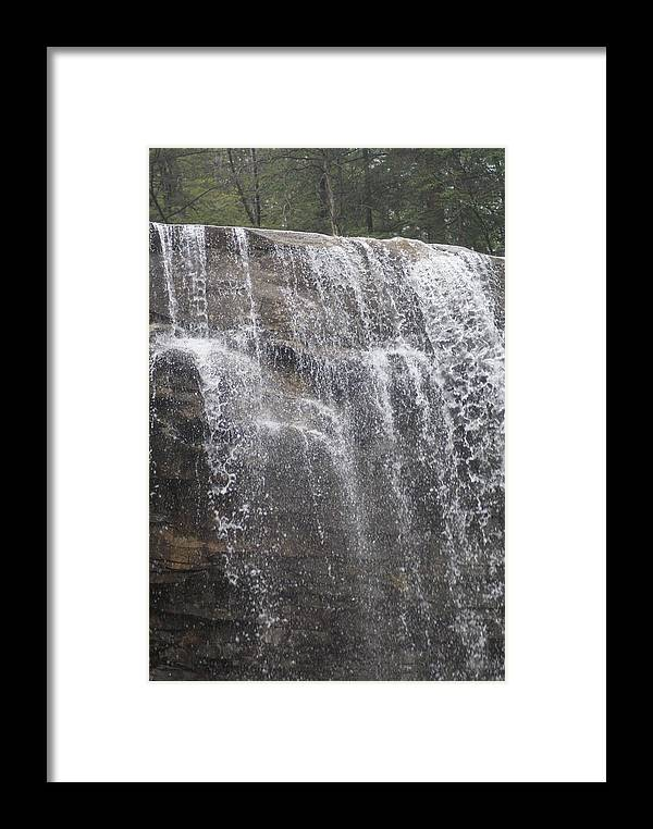 Water Framed Print featuring the photograph Waterfalls by Heather Green