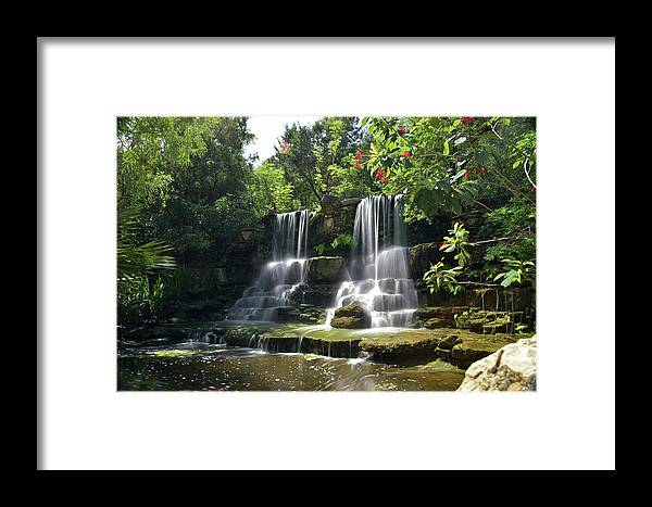 Waterfall Framed Print featuring the photograph Waterfalls by Jay Anne Boza