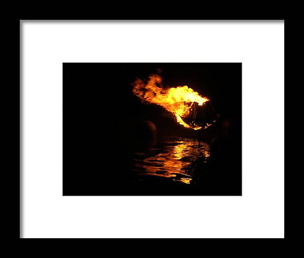 Brazier Framed Print featuring the photograph Waterfire 2007-1 by Nancy Ferrier