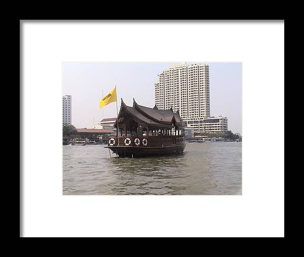 Travel Framed Print featuring the photograph Waterfront Restaurant by William Thomas