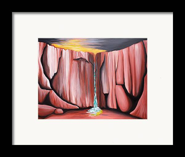 Waterhole Framed Print featuring the painting Waterhole by Bonnie Kelso