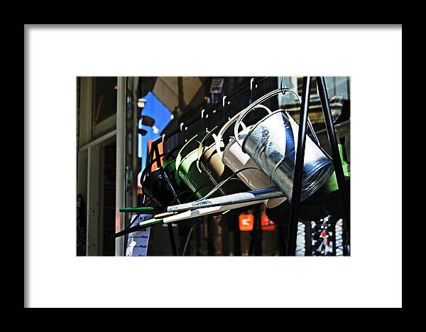 Watering Framed Print featuring the photograph Watering Garden by HazelPhoto