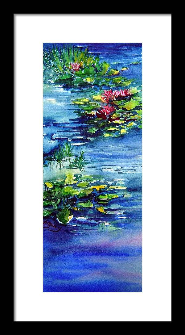 Waterlilies Framed Print featuring the painting Waterlilies by Joanne Smoley