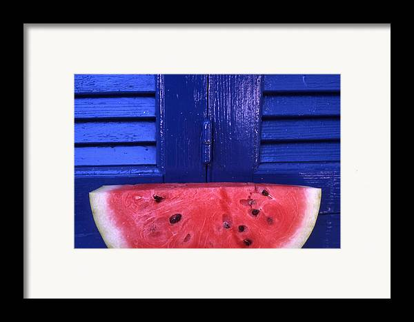 Watermelon Framed Print featuring the photograph Watermelon by Steve Outram