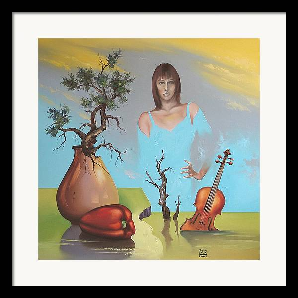 Framed Print featuring the painting Watermusic by Zoltan Ducsai