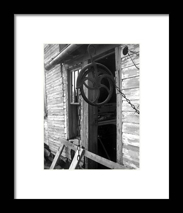 Ansel Adams Framed Print featuring the photograph Waterpulley by Curtis J Neeley Jr