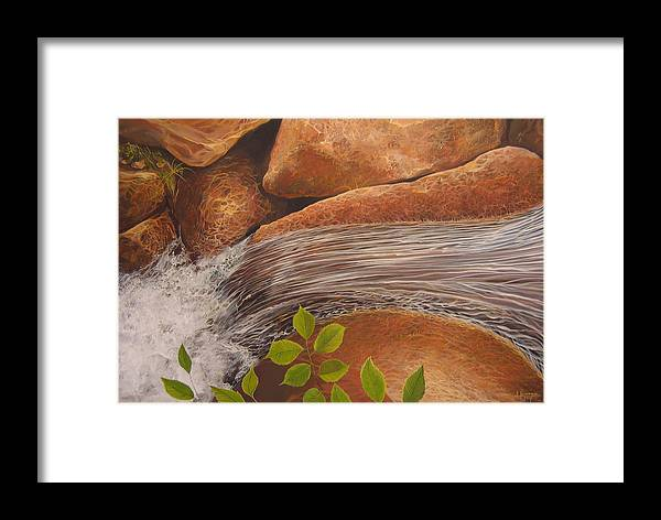 Water Framed Print featuring the painting Water's Edge by Hunter Jay