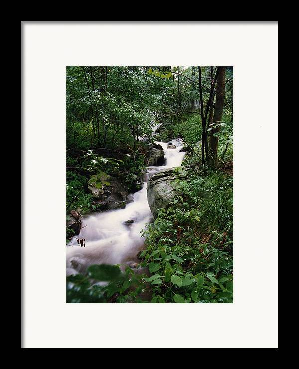 Photography Framed Print featuring the photograph Watershed Gray by Cynthia Ann Swan