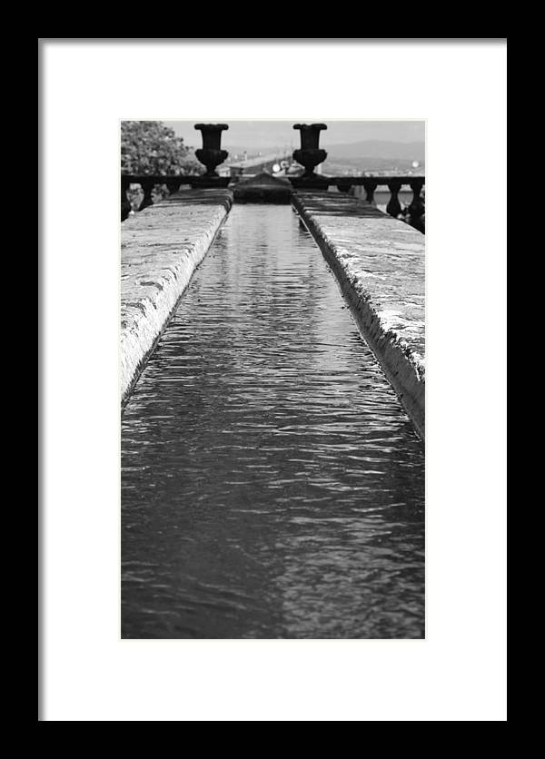 Water Framed Print featuring the photograph Waterway by Valentino Visentini