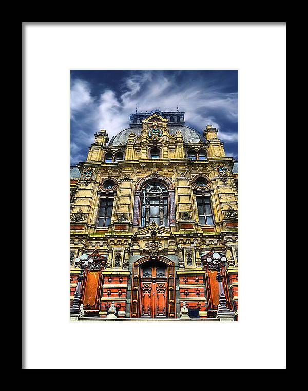 Archetecture Framed Print featuring the photograph Waterworks by Kenneth Mucke