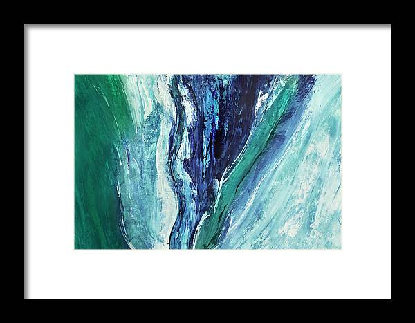 Canvas Print Framed Print featuring the painting Waterworld by K Batson Art