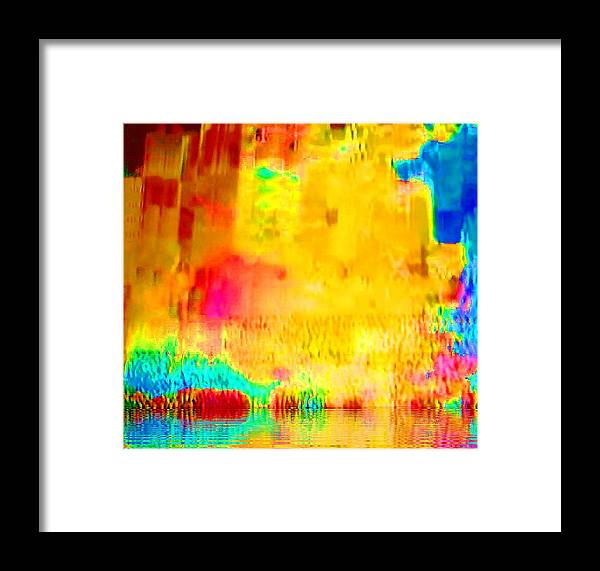 Abstract Framed Print featuring the photograph Waterworld by Maxwell Kerr
