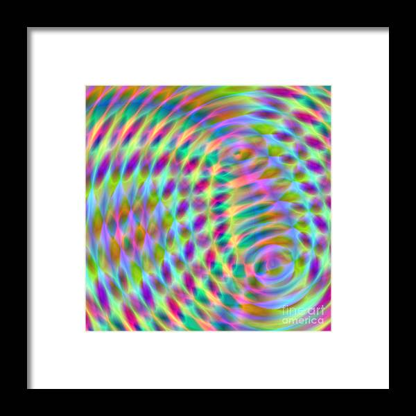 Abstract Framed Print featuring the digital art Wave 001 by Rolf Bertram
