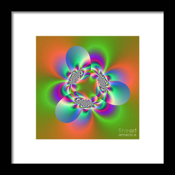 Abstract Framed Print featuring the digital art Wave 003b by Rolf Bertram