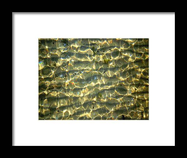 Photo Framed Print featuring the photograph Wave Abstract by Michael Durst