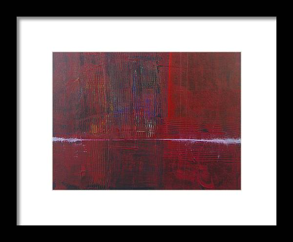 Abstract Framed Print featuring the painting Wave Front by Charles Morford