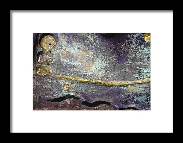 Photopainting Framed Print featuring the digital art Wave by Helga Schmitt