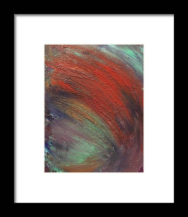 Abstract Framed Print featuring the painting Wave by Margaret Fronimos