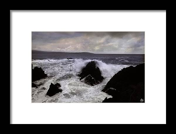 Wave Framed Print featuring the photograph Wave Strike Point Lobos by Wayne King