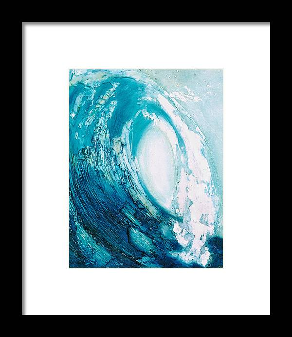 Wave Framed Print featuring the painting wave VIII by Martine Letoile